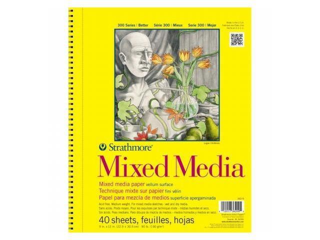 Pro-Art 362900 Strathmore Mixed Media Vellum Paper Pad 9''X12''-90lb 40 Sheets