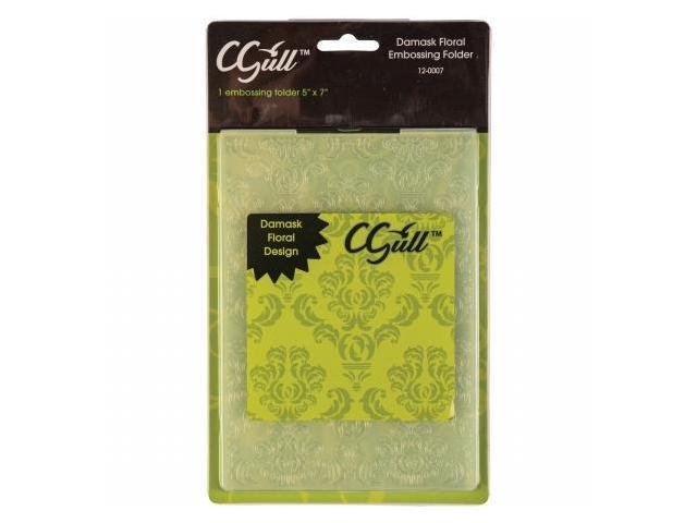 C-Gull 12-0007 Embossing Folder 5''X7''-Damask Floral