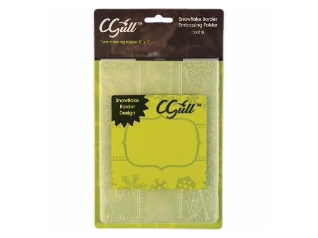 C-Gull 12-0015 Embossing Folder 5''X7''-Snowflake