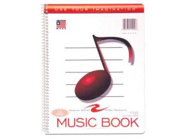 Roaring Spring 15009 12 Stave Music Notebook 32 Sheets Letter 8.50