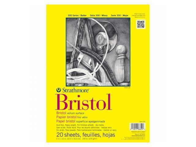 Pro-Art 342114 Strathmore Vellum Bristol Paper Pad 14''X17''-100lb 20 Sheets