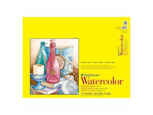 Pro-Art 360118 Strathmore Watercolor Paper Pad 18''X24''-140lb Cold Press 12 Sheets