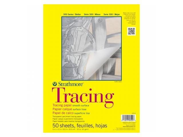Pro-Art 370900 Strathmore Tracing Paper Pad 9''X12''-25lb 50 Sheets