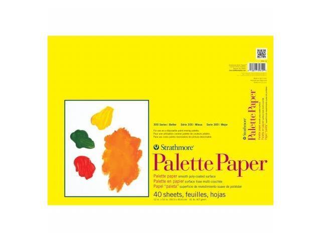 Pro-Art 365120 Strathmore Palette Paper Pad 12''X16''-41lb 40 Sheets