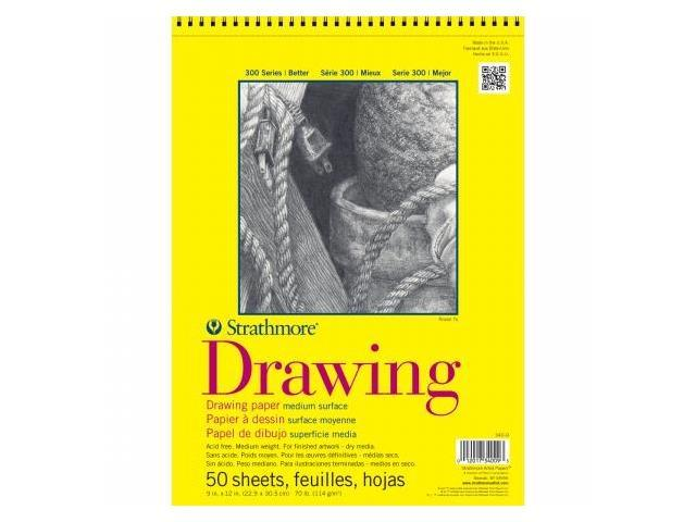 Pro-Art 340140 Strathmore Drawing Paper Pad 14''X17''-70lb 50 Sheets