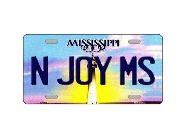 Smart Blonde LP-6575 N Joy Mississippi Novelty Metal License Plate