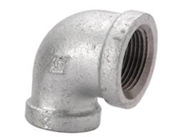 World Wide Sourcing 2A-3-8G 90 Degree Elbow Galvanized - .37 In.