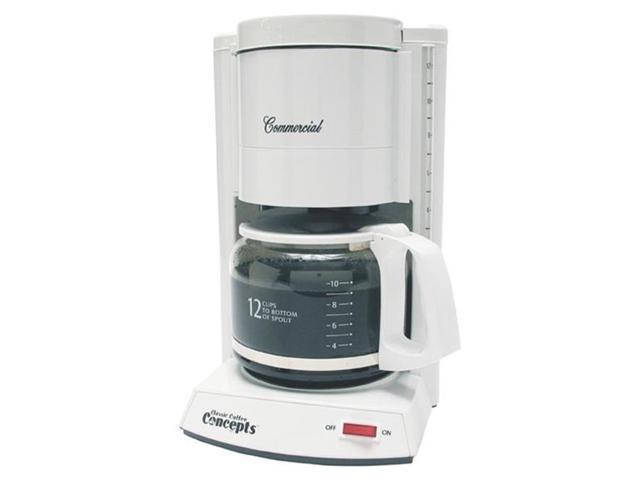 Classic Concepts CC120 White Commercial Brewer, 10-12 Cup