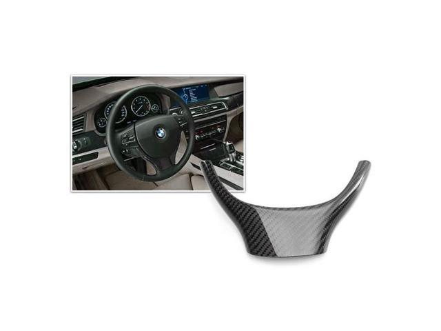 Bimmian CWT32SBYY Auto Carbon Carbon Fiber Steering Wheel Trim For F32 Leather Wheel & Sport, 2 Piece Trim