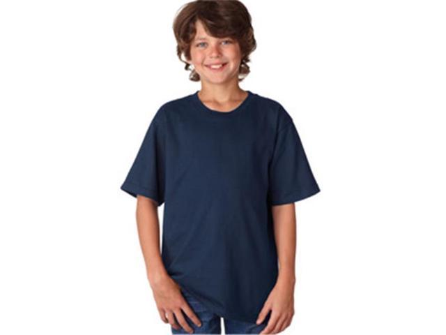Anvil 990B Youth Lightweight Tee - Navy, Large