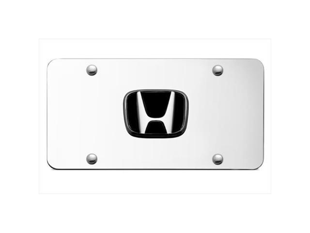 AUTO GOLD HONCC Honda Chrome Logo On Chrome License Plate