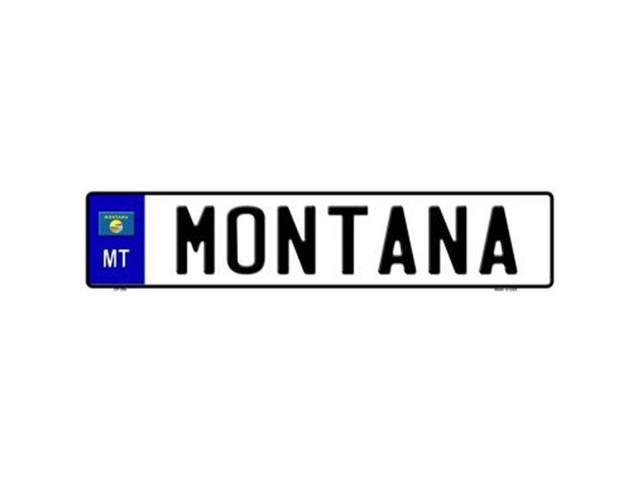 Smart Blonde EP-094 Montana Novelty Metal European License Plate