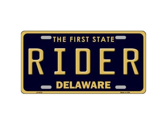 Smart Blonde LP-6723 Rider Delaware Novelty Metal License Plate