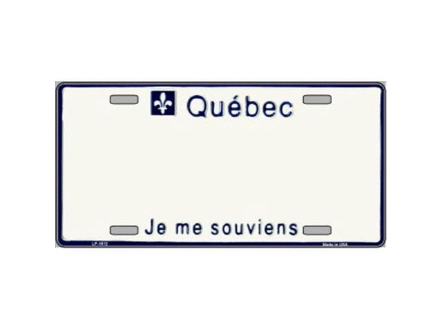Smart Blonde LP-1512 Quebec Novelty Background Metal License Plate