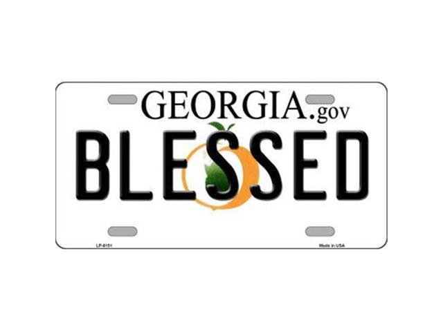Smart Blonde LP-6151 Blessed Georgia Novelty Metal License Plate