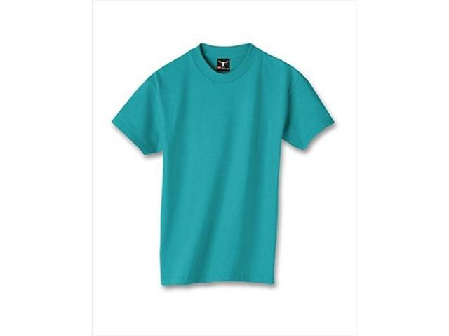 Hanes 5380 Kid Beefy-T T-Shirt Teal Blue Extra Small
