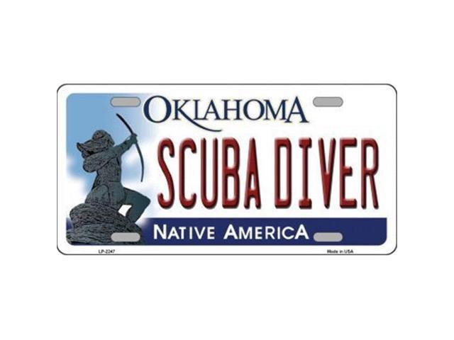 Smart Blonde LP-6247 Scuba Diver Oklahoma Novelty Metal License Plate