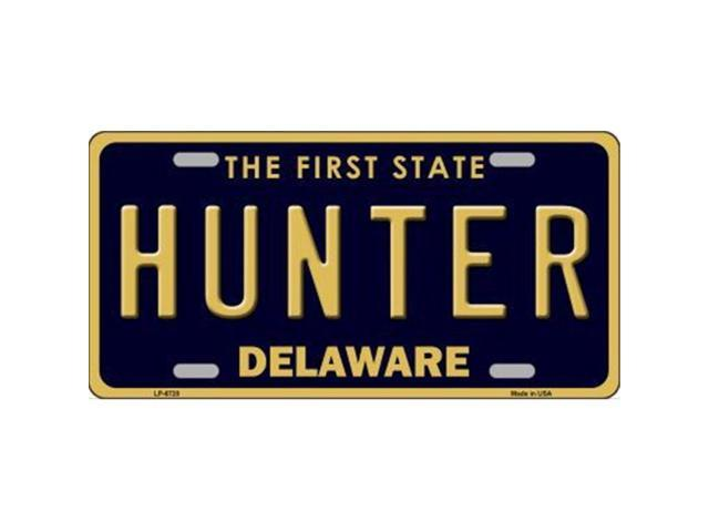 Smart Blonde LP-6720 Hunter Delaware Novelty Metal License Plate