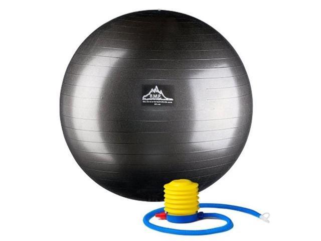 Black Mountain Products PSBLK 85CM 85 cm. Professional Grade Exercise Stability Ball, Black