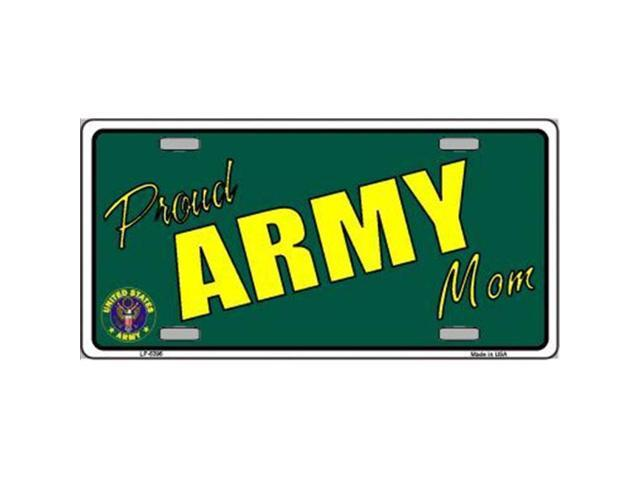 Smart Blonde LP-5396 Proud Army Mom Novelty Metal License Plate