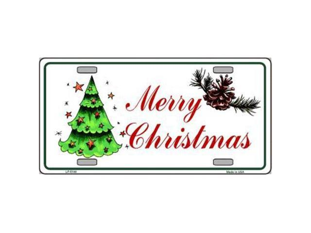 Smart Blonde LP-5144 Merry Christmas Metal Novelty License Plate