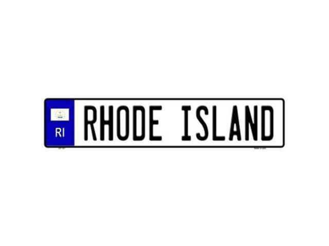 Smart Blonde EP-107 Rhode Island Novelty Metal European License Plate
