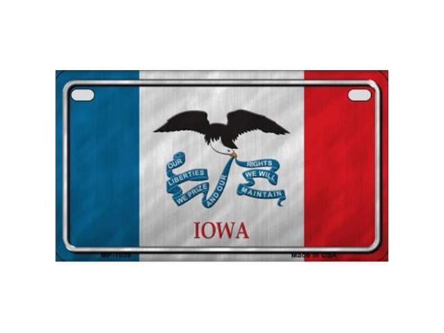 Smart Blonde MP-1039 Iowa State Flag Metal Novelty Motorcycle License Plate