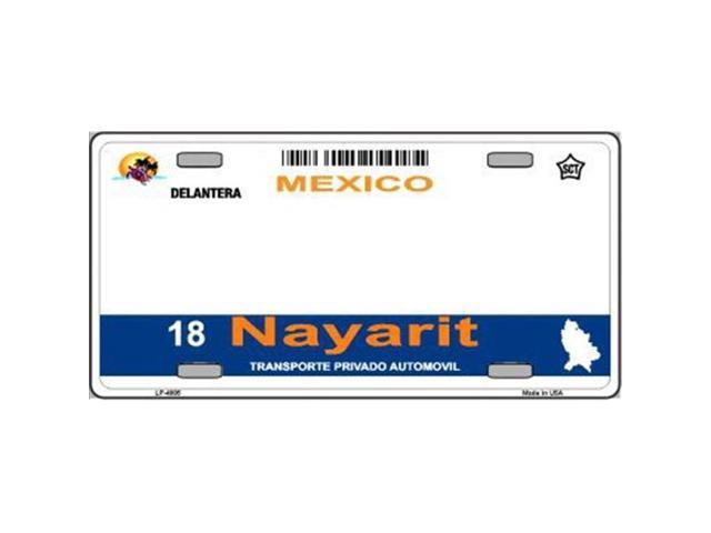 Nayarit Mexico Look A Like Metal License Plate   All wording is Free