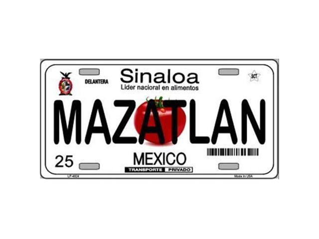 Smart Blonde LP-4824 Mazatlan Mexico Novelty Background Metal License Plate