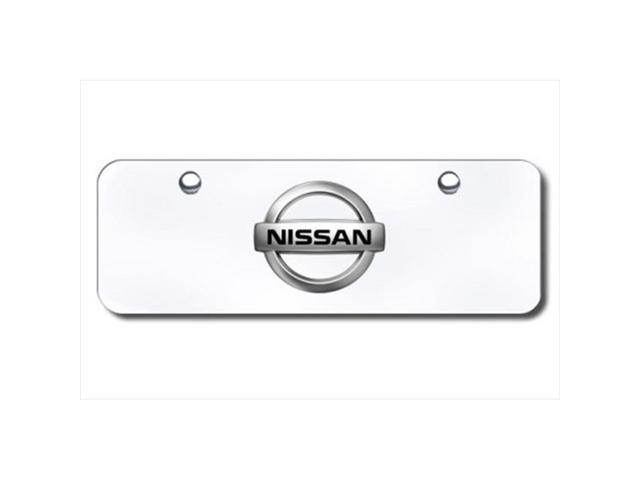AUTO GOLD NIS2CC Nissan Chrome Logo On Chrome Mini Size License Plate
