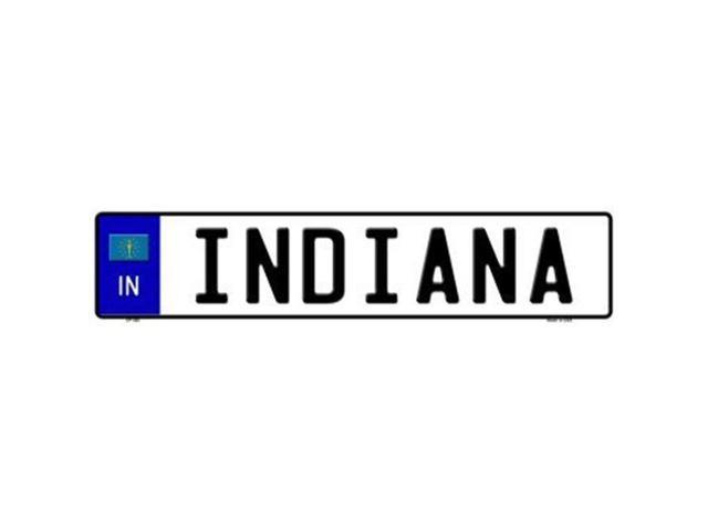 Smart Blonde EP-082 Indiana Novelty Metal European License Plate
