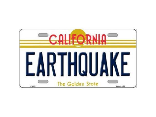 Smart Blonde LP-4902 Earthquake California Novelty Metal License Plate