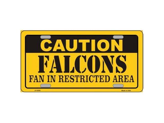 Smart Blonde LP-2535 Caution Falcons Metal Novelty License Plate