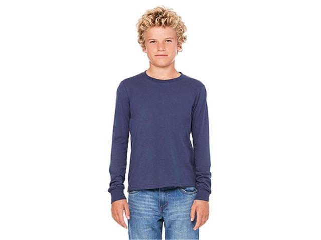Bella 3501Y Youth Jersey Long Sleeve Tee - Navy, YM