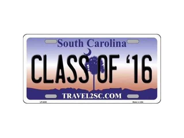 Smart Blonde LP-6285 Class of 16 South Carolina Novelty Metal License Plate