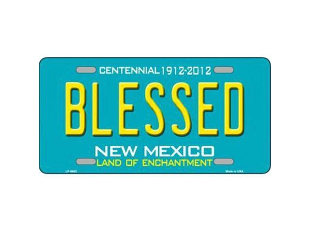 Smart Blonde LP-6682 Blessed New Mexico Novelty Metal License Plate