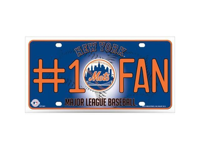 Rico LP-5540 Mets Fan Metal Novelty License Plate