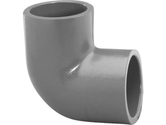 Genova Products Inc 307148 PVC Schedule 90Deg 80 Elbow, 1.25 in. Slip