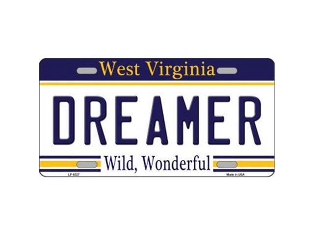 Smart Blonde LP-6527 Dreamer West Virginia Novelty Metal License Plate