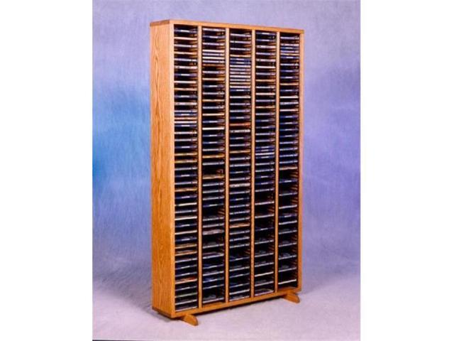 Wood Shed 509-4 Solid Oak Tower for CDs - Individual Locking Slots
