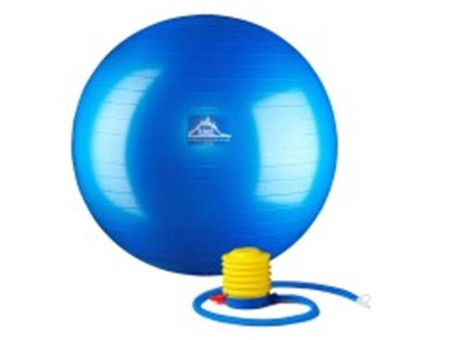 Black Mountain Products 55cm Blue Gym Ball 55 cm. Static Strength Exercise Stability Ball, Blue