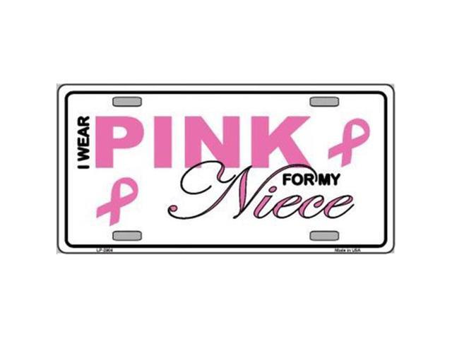 Smart Blonde LP-2904 Pink For My Niece Metal Vanity License Plate Sign