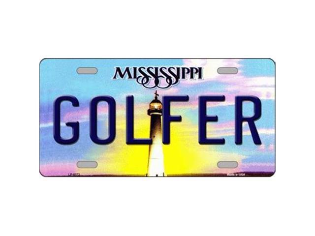 Smart Blonde LP-6573 Golfer Mississippi Novelty Metal License Plate