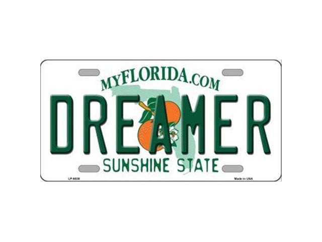 Smart Blonde LP-6038 Dreamer Florida Novelty Metal License Plate