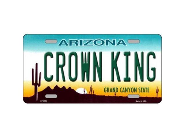 CROWN KING Arizona State Background Aluminum License Plate - SB-LP2892