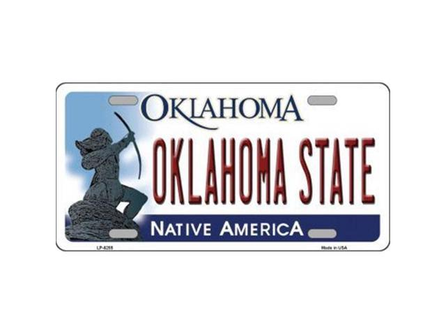 Smart Blonde LP-6255 Oklahoma State Novelty Metal License Plate
