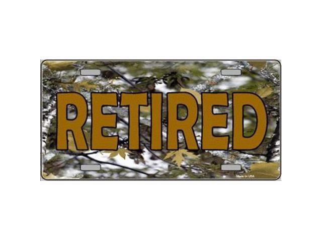 Smart Blonde LP-3938 Retired Camouflage Metal Novelty License Plate