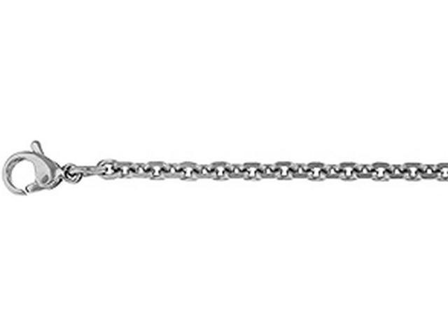 Doma Jewellery SSSSN07222 Stainless Steel Necklace, Cable Style - 2.8 mm. Length 22 in.