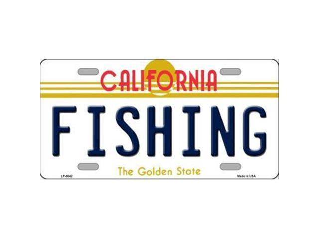 Smart Blonde LP-6842 Fishing California Novelty Metal License Plate