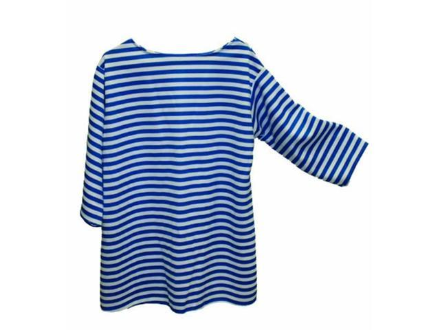 Alexander Costume 22-229-BL  Striped Shirt - Blue, Extra Large